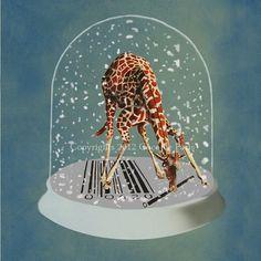 collage / à mettre dans une boule de neige
