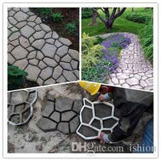 Diy Concrete Walkway Mold Garden Supplies Pathway Mould For Making Pathways Of Your Garden/Paving Mold/Concrete Mold From Ishion, $9.22 | Dhgate.Com