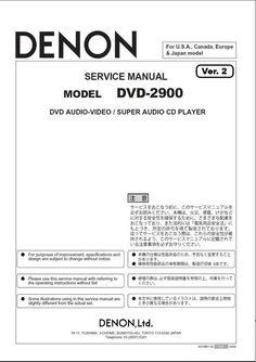 Denon avr x1200w s710w av receiver service manual and repair guide denon dvd 2900 service manual version 2 fandeluxe Gallery