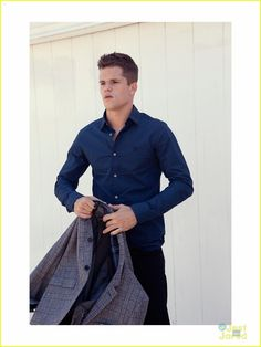 Max & Charlie Carver: 'Bello' Boys | max charlie carver bello fashion feature 10 - Photo Max Carver, Max And Charlie Carver, Carver Twins, Elaine Benes, Denim Button Up, Button Up Shirts, Just Jared, Celebrity Gossip, Male Fashion