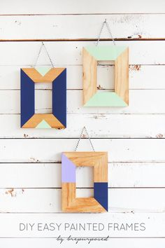 Dress up frames with this easy how-to painting DIY (Hones Tip: Use non-toxic paint!)