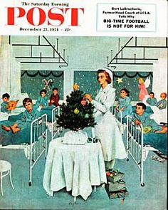 Xmas 1954. The Saturday Evening Post. #Christmas