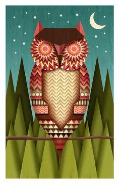 Night Owl by Fernando Torres Rojo, via Behance
