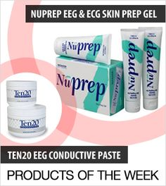 Nuprep skin preparation gel is beneficial for use where motion artifacts can affect readings, and when a reduction of skin impedance would enhance a test result.  Nuprep gel is easy and convenient to use.  & Ten20 paste is an opaque adhesive paste that is intended to reduce skin impedance when using non-disposable neurodiagnostic electrodes. It is a staple for expert technicians throughout the world who have come to rely on its optimal balance of adhesiveness and conductivity.