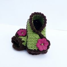 Knitting PATTERN BABY BOOTIES Shoes Slippers Baby by ceradka