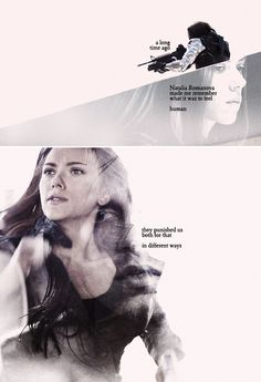 Black Widow + The Winter Soldier: Fighting her now is like punishing myself all over again.