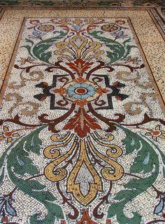 incredible floor mosaic