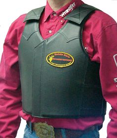 Meece Saddlery - Leather Bull Riding Vest by Saddle Barn, $275.95 (http://www.meecesaddlery.com/leather-bull-riding-vest-by-saddle-barn/)