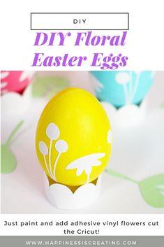 DIY Floral Easter Eg...