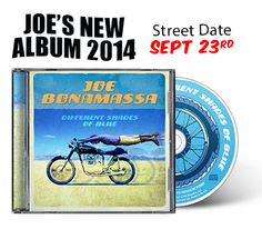 Joe Bonamassa 'Different Shades of Blue' Album Pre-order, July 2014