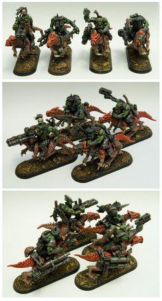 Ork Raptor Riders, Warbiker conversion, Warhammer 40k.
