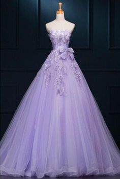 Lilac Prom Dress,Modest Prom Gown,Ball Gown Prom Gown,Princess Evening Dress,Ball Gown Evening Gowns