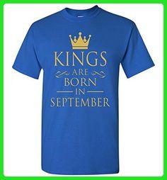Best Gift For Birthday Kings Are Born in September T-shirt - Birthday shirts (*Amazon Partner-Link)