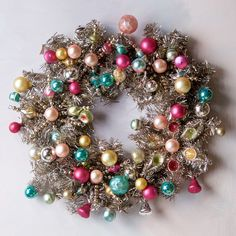 Vintage Glam Ornament & Tinsel Wreath