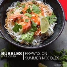 Prawns on Summer Noodles Deep Frying, Chilli Flakes, Prawn, Salt And Pepper, Raising, Noodles, Fries, Bubbles, Image Link