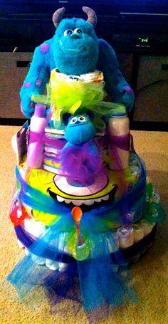 Monster's Inc. Diaper Cake.
