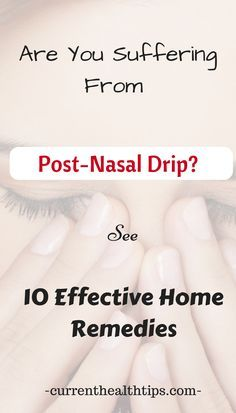 Home remedies for post-nasal drip | How to get rid of post-nasal drip | Cure for post-nasal drip