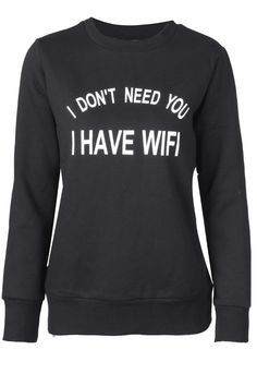 Cupshe Lazy Afternoon Wifi Sweatshirt