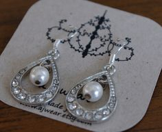 Stunning mix of handmade and vintage finds  pearl silver by ajwear, $28.00