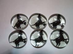 Glass Marble Magnets  Halloween / 78 by LisaChristines on Etsy, $5.00