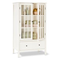 Narrow Skinny Tall Wooden Cabinet Storage Shelves Wood