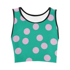 Tropical Violet Polka Dot Crop Top #stellasaksa #tropicalviolet #polkadots #croptop #spring #fashion #art