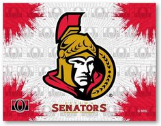 Make a big splash by putting your team alliance a focal point in the room with the Ottawa Senators Canvas Wall Art. The printed canvas features splashes of the primary team color overlaying a repeat background. The primary team logo sits center . Ottawa, Wall Art Prints, Canvas Prints, Holland Bar Stool, Print Logo, Print Pictures, New Art, Canvas Wall Art, Graphic Art
