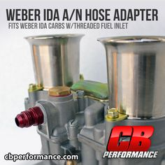 Now you can easily run A/N fittings and stainless steel hoses directly to your Weber IDA carburetor(s). Simply un-thread the old brass fitting and replace it with the new Weber IDA A/N Hose Adapter. This is the quickest and best way to adapt -6 A/N fittings to any Weber IDA setup. Get yours now. Also Available to fit Weber IDF's.  Note: Works only on Weber IDA Carburetors w/threaded fuel inlet.  M12 x 1.50mm Vw Performance, Vw Parts, Stainless Steel Hose, Brass Fittings, Old Things, Note, Atelier