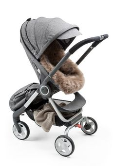 Plush and Luxe! Genuine Sheepskin liner for your Stokke stroller avail only at shop.stokke.com in limited quantities!