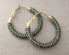 Beads Baubles & Jewels #1808: Easy seed bead embellished hoop earrings