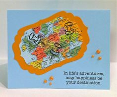 May Happiness Be Your Destination by corgidusty - Cards and Paper Crafts at Splitcoaststampers
