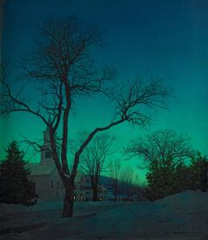 Maxfield Parrish had a very meticulous process for painting but his results are still unmatched for their great sense of light and atmosphere.