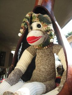Jester Monkey sock monkey...This one is  going on my top 20 list of the most epic monkeys made  outta socks