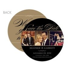 Photo Elegance Circle Save the Date Date