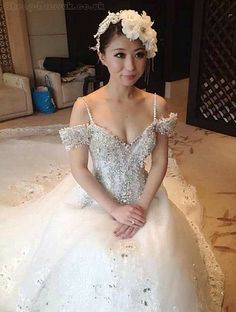 wedding dress- not crazy about the off shoulder cap sleeve...but love everything else