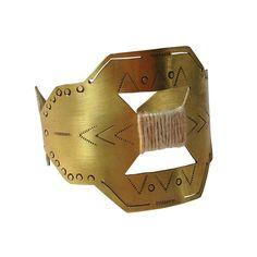 Aztec gold cuff