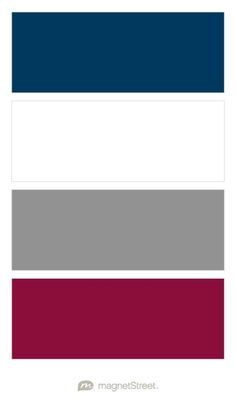 Navy, White, Classic Gray, and Burgundy Wedding Color Palette - custom color palette created at MagnetStreet.com