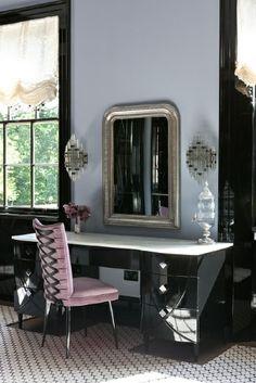 Bathroom black gloss vanity