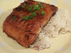 The Girly Girl Cooks: Sweet Honey Teriyaki Salmon