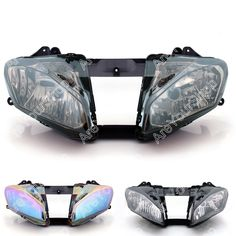 98.00$  Watch now - http://alit7d.worldwells.pw/go.php?t=32501226569 - Smoke Universal Motorcycle Headlight Headlamp Replacement Driving Fog Spot Moto Head Light for Yamaha YZF600 R6 2008-2012