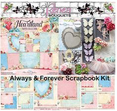 Reneabouquets Always And Forever Scrapbook Kit by Reneabouquets