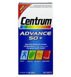 Centrum Advance 50  - 100 tablets 10092970 48 Advantage card points. Centrum Advance 50  is specially formulated for adults 50 years and over FREE Delivery on orders over 45 GBP. http://www.MightGet.com/february-2017-1/centrum-advance-50 --100-tablets-10092970.asp