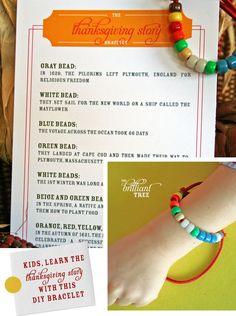thanksgiving story bracelet | thanksgiving craft for kids