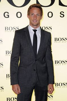 Jenson Button all dressed up.