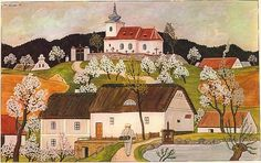 JOSEF LADA od jara až do zimy-from spring until winter Academic Art, Illustrators, Folk Art, Around The Worlds, Clip Art, Drawings, Lady, Spring, Retro