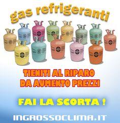 GAS REFRIGERANTI : aumenti in vista ... anche del 60% e oltre (  fonte generalgas.it ) FAI LA SCORTA ORA: non perdere tempo ! http://www.ingrossoclima.it/offerte-gas.asp tutti i principali gas refrigeranti sempre disponibili ai prezzi più bassi del mercato.  #fgas #gasrefrigeranti #refrigerante #freon #R404A #r32 #climatizzazione #frigoristi