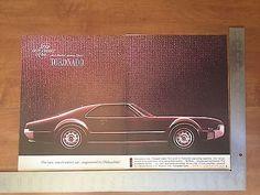 1965 - Oldsmobile Tornado Ad - Vintage Print Advertising - Olds - 2pgPurp