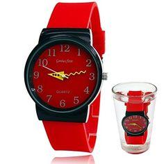 unisex de quartzo silicone analógico do esporte da forma impermeável relógios de pulso (cores sortidas) – BRL R$ 41,87