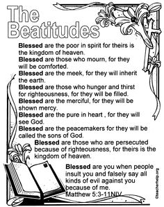Color New and Old Testament Bible Verses Sunday School Activities, Bible Activities, Sunday School Lessons, Sunday School Crafts, Bible Study For Kids, Bible Lessons For Kids, Kids Bible, Beatitudes For Kids, Catholic Kids