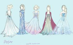 Elsa Gowns, Elsa Fashion Part 2 You can see my other works on my tumblr page! Thanks!